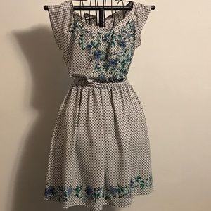Flirty Gingham & Floral Dress by Lauren Conrad